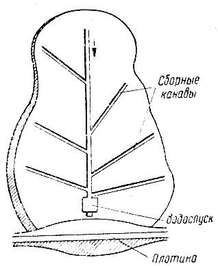 Рис. 4. Схема планировки ложа пруда