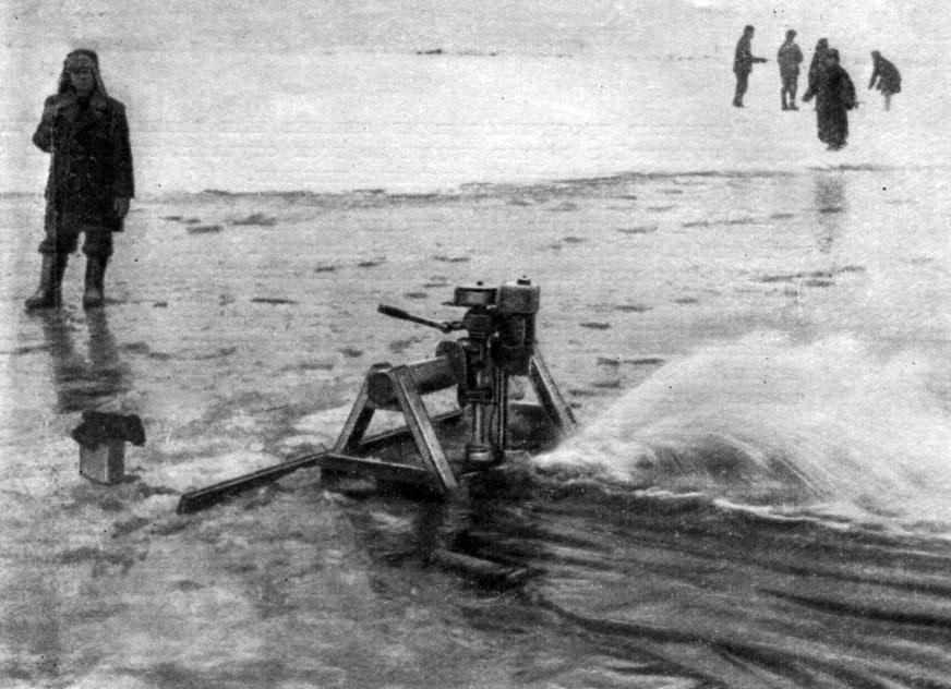 Аэрация воды с помощью подвесного лодочного мотора